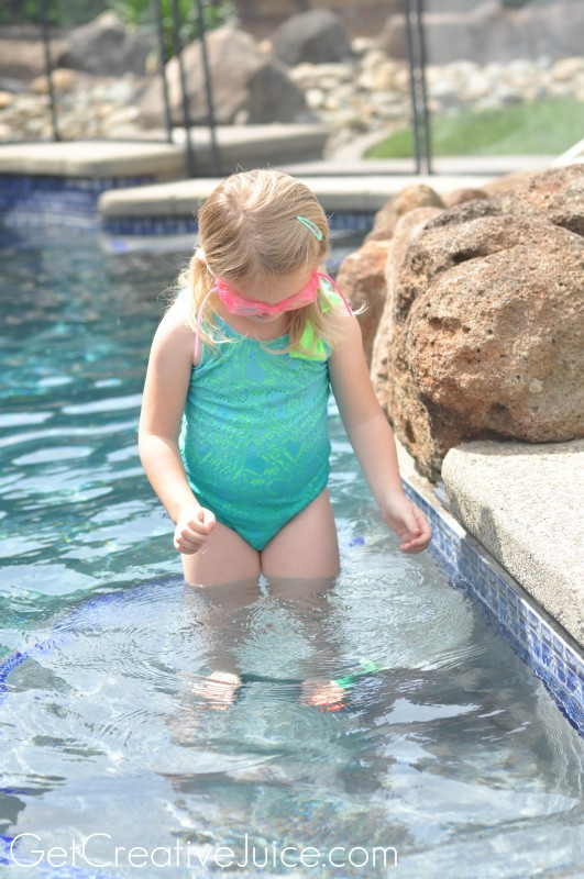 Learning to swim with Target Disney Princess