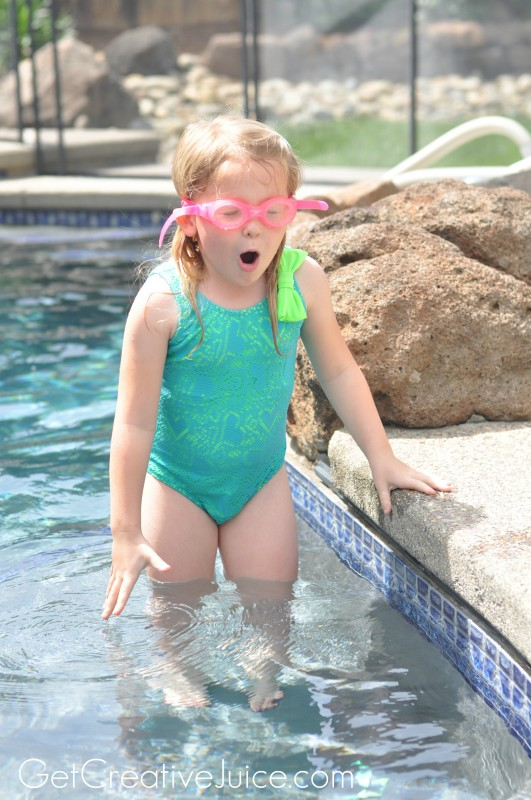 Target Disney Princess helps with Swimming lessons!