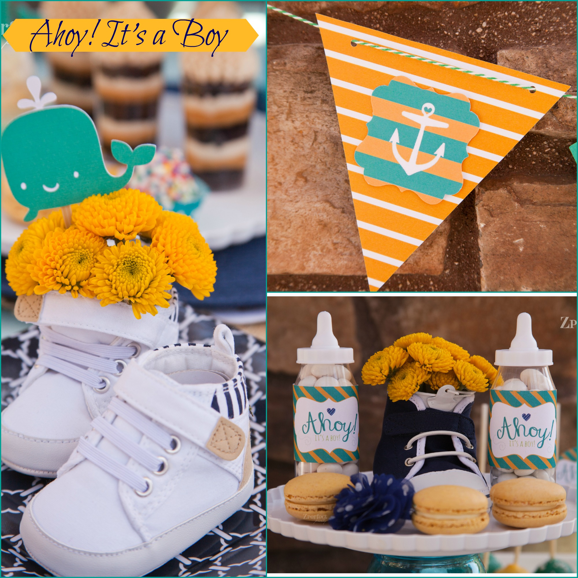 party} ahoy it's a boy  nautical baby shower  creative juice, Baby shower