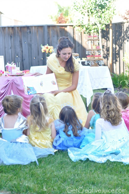 Belle Princess Party Activity - story time