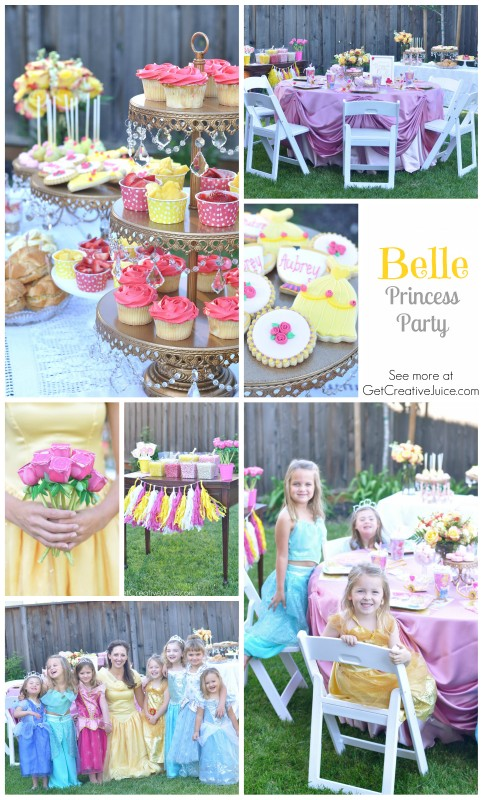 Belle Princess Party - ideas, decorations, food, activities, and more
