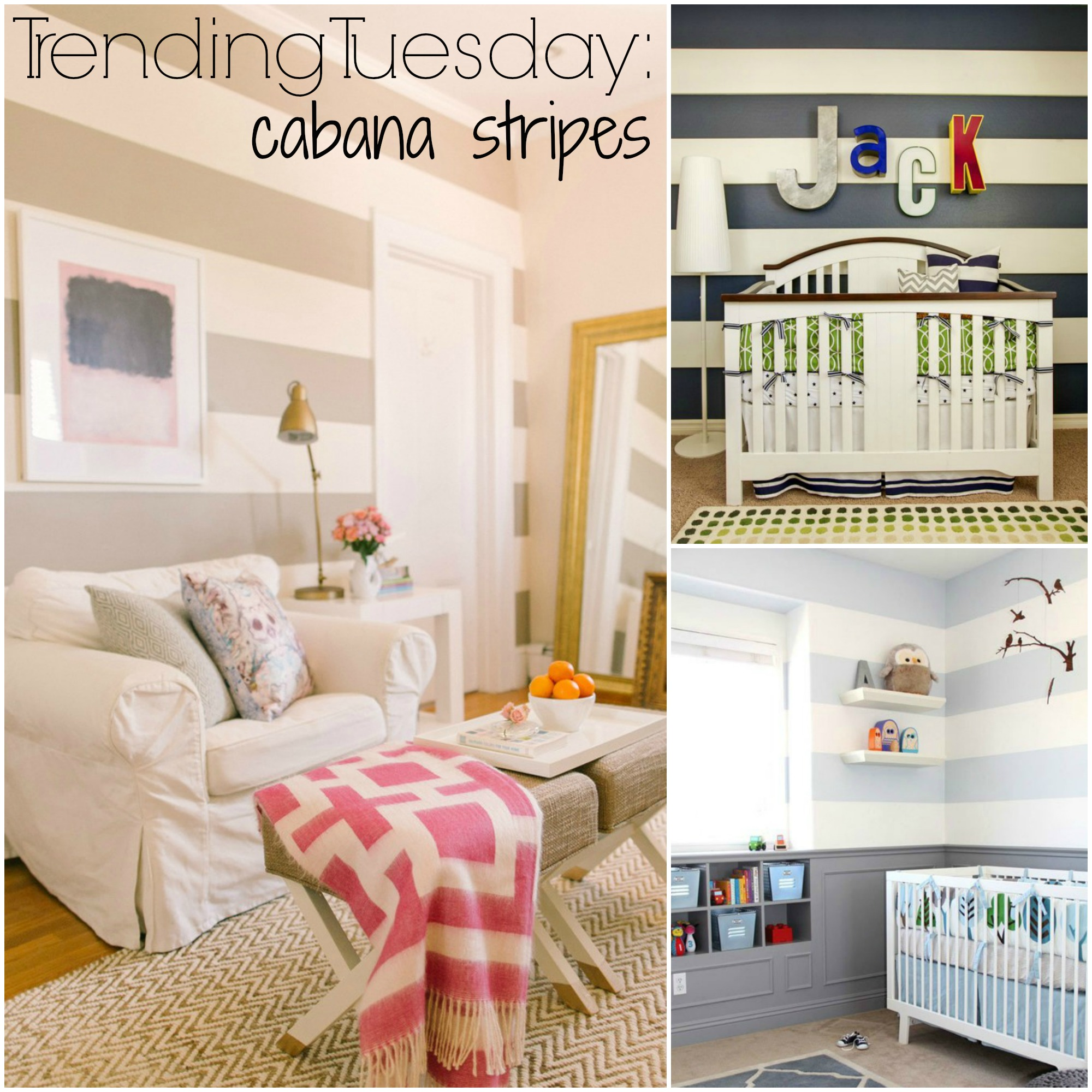 Striped Bedroom Paint Trending Tuesday Cabana Stripes How To Paint Horizontal Wall