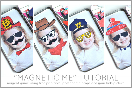 Magnetic me - Magnetic Doll using photo booth props