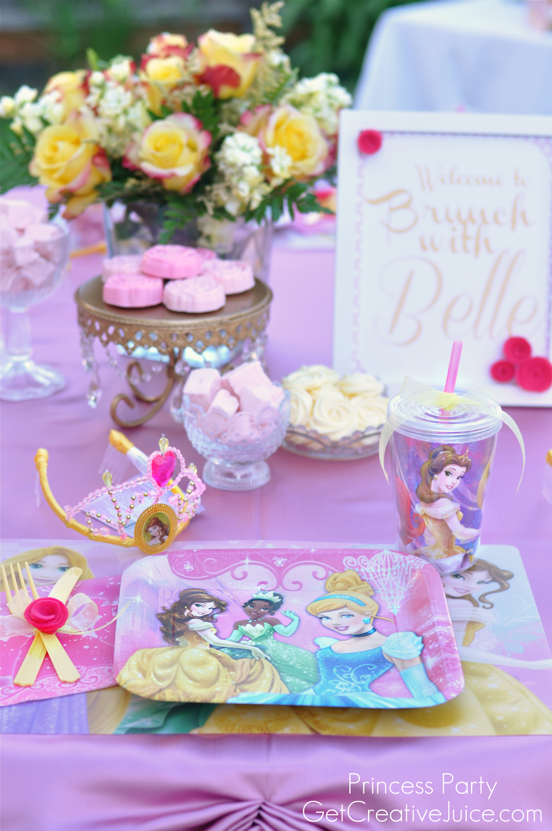 disney princess party with belle part one creative juice. Black Bedroom Furniture Sets. Home Design Ideas