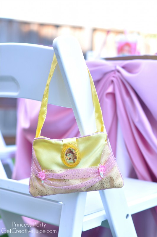 Princess Party favor ideas - Belle purses