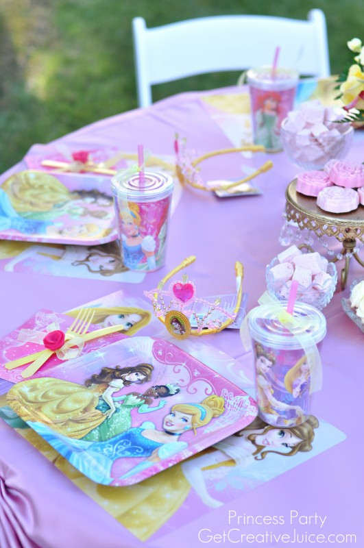 Princess Party tablesetting
