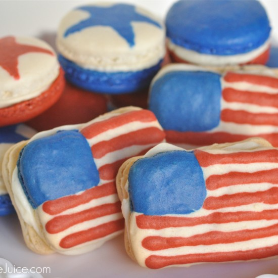 4th of July Macarons – American Flag French Macarons