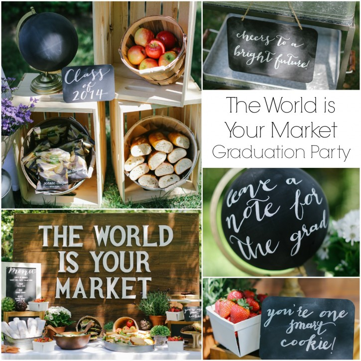 The world is your market, evite invitation, panera catering, graduation party