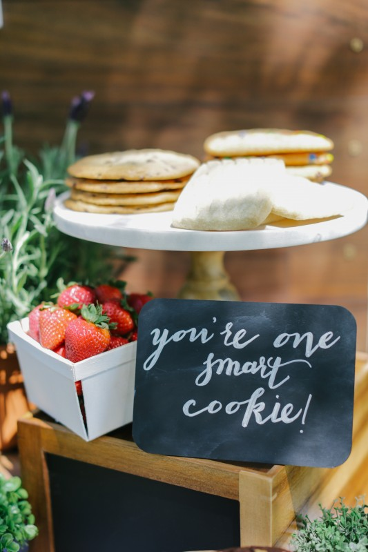 The World is Your Market Graduation Party, you're one smart cookie sign, cookies