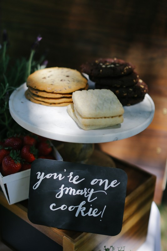 The World is Your Market Graduation Party, Panera Cookies, You're one smart cookie chalkboard