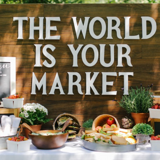 {party} 'The World is Your Market' Graduation Party Ideas