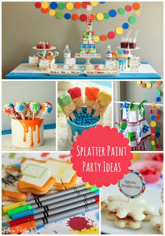 Splatter Paint and Splash Party (with Juicy Juice) collage photo