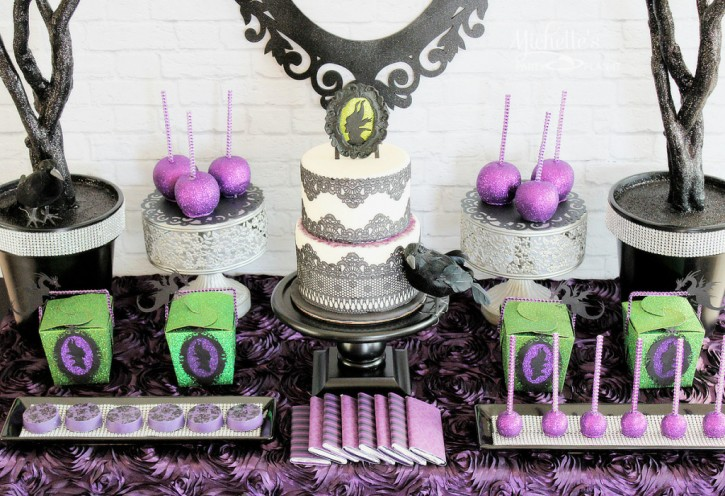 maleficent party dessert table