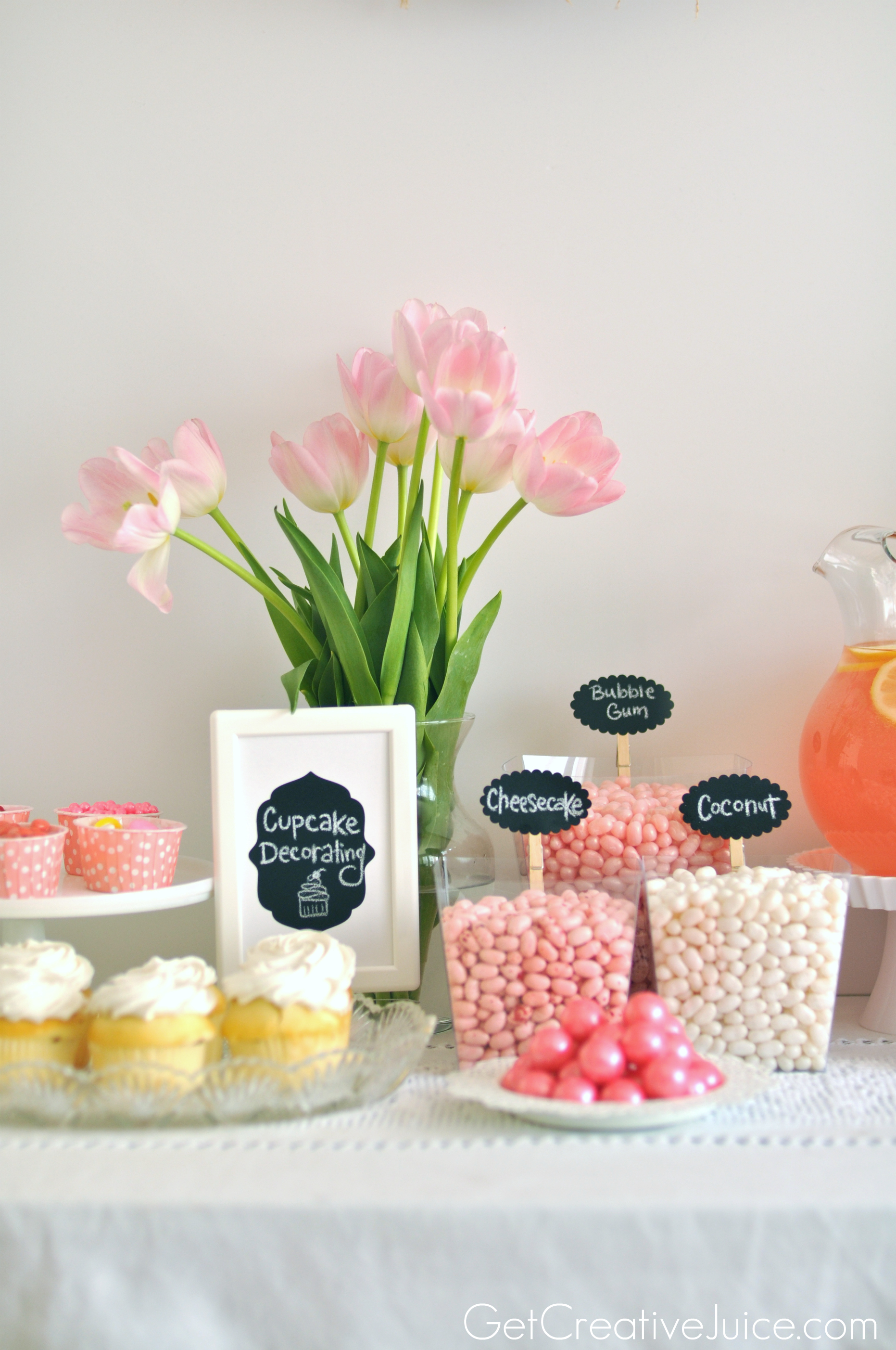 Cupcake Decorating Ideas For Birthday Party : Girly Pink Cupcake Decorating Party! - Creative Juice