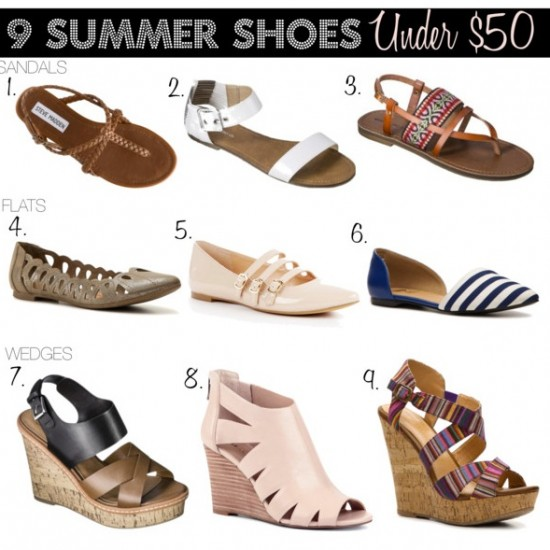 9 Perfect Summer Sandals for Under $50