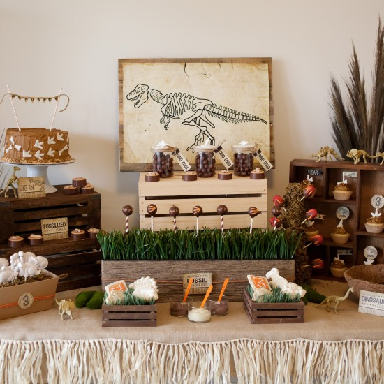 Rustic Dinosaur Party For Kids