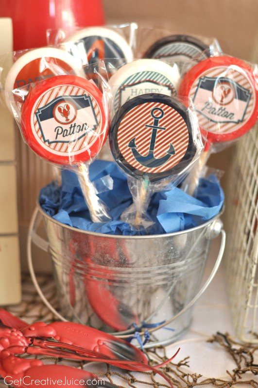 Custom Nautical Lollipops with edible images