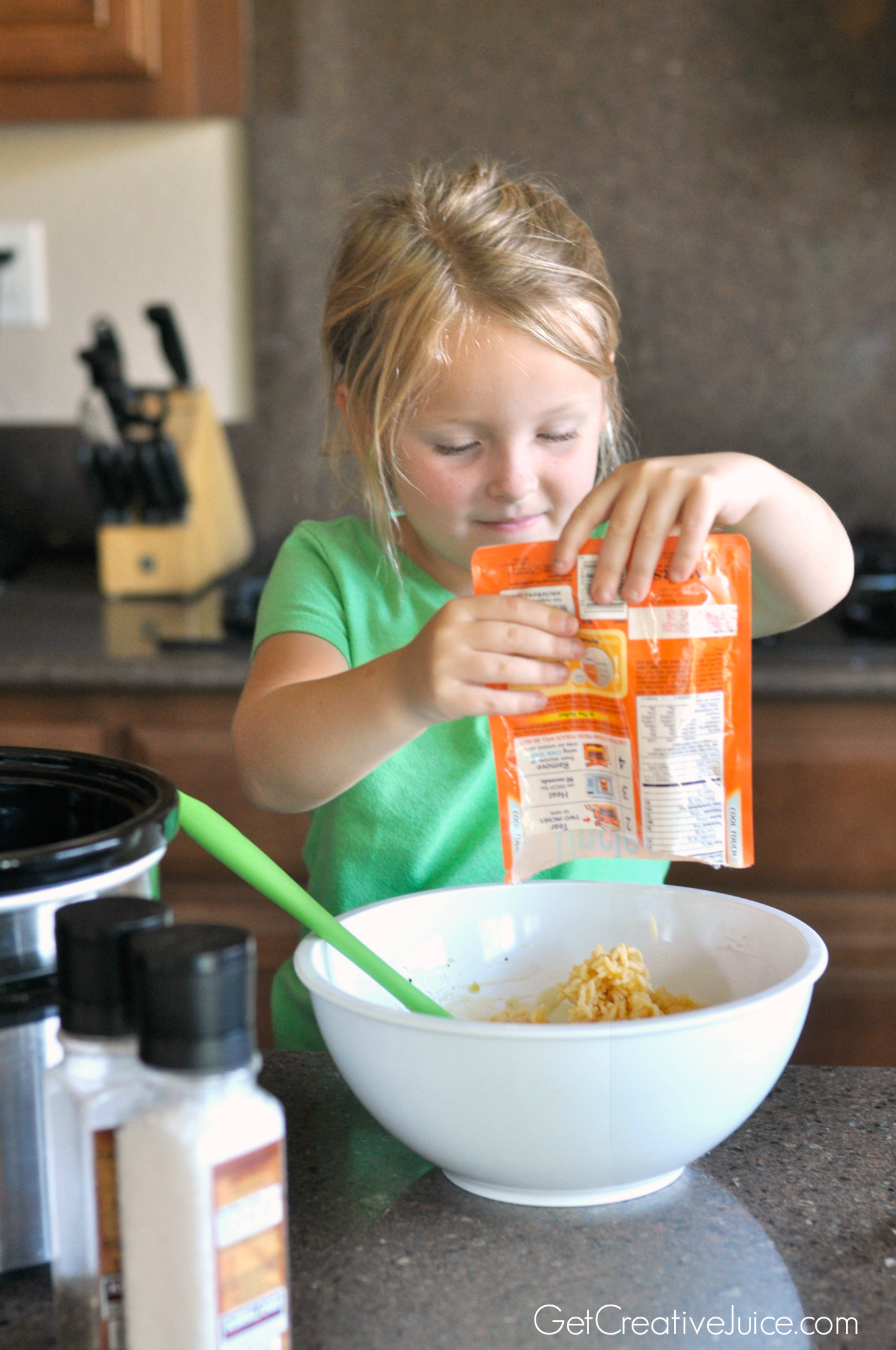 Cooking With Kids Easy Creamy Crockpot Chicken And Rice Creative Juice