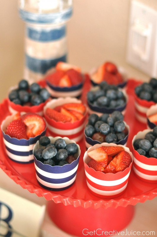 Fruit Cups for a Nautical Party