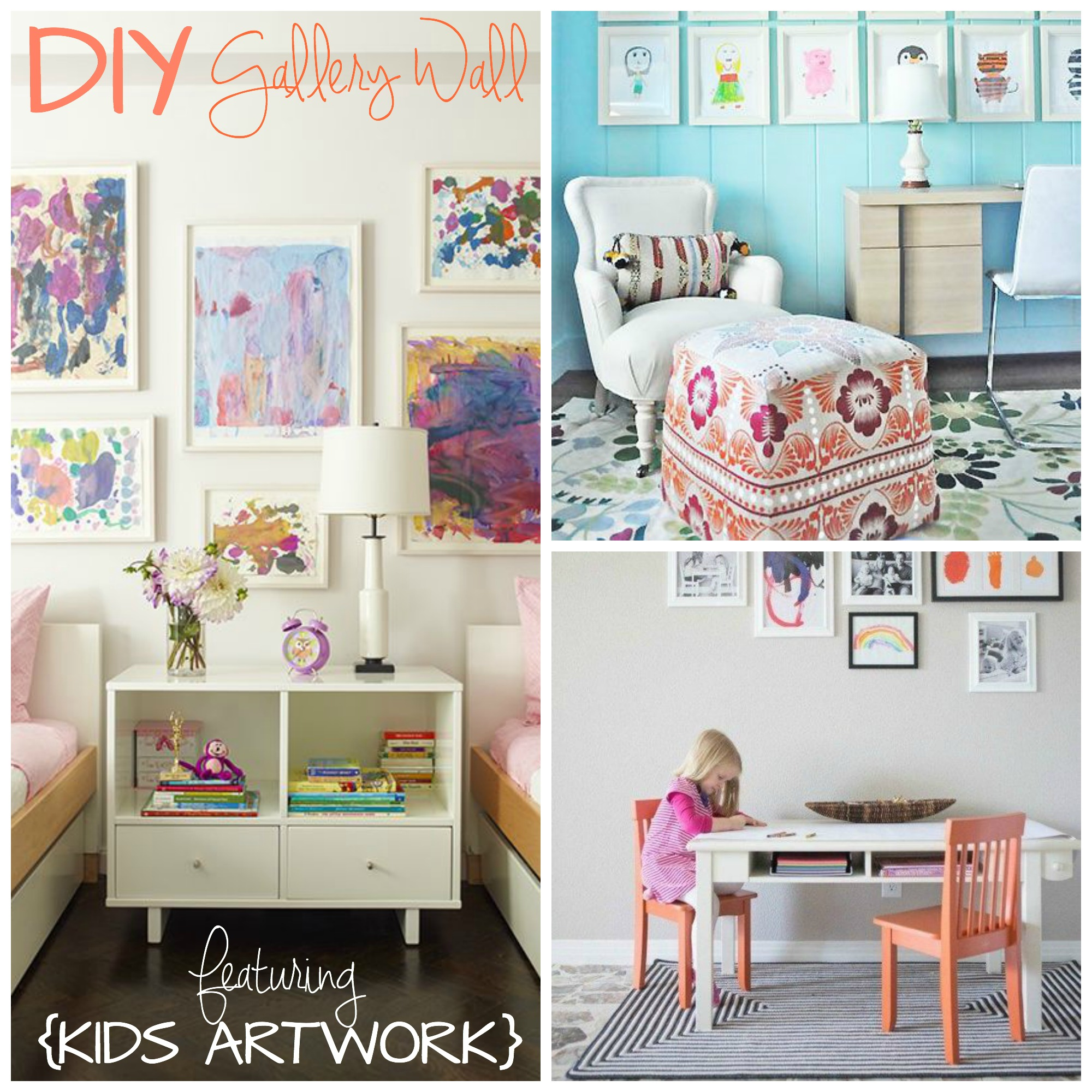 Diy gallery walls with kids artwork mindy cone getcreativejuice
