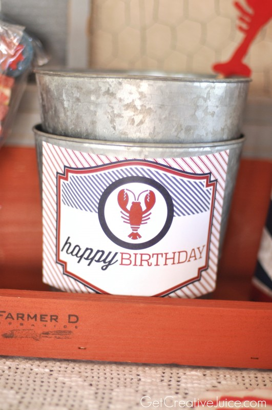 Nautical Lobster Birthday Party