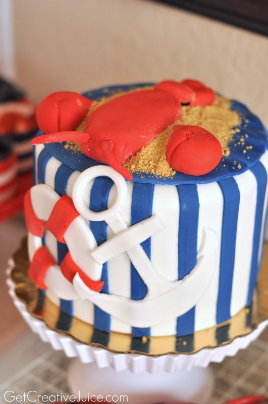 Nautical Lobster fondant cake