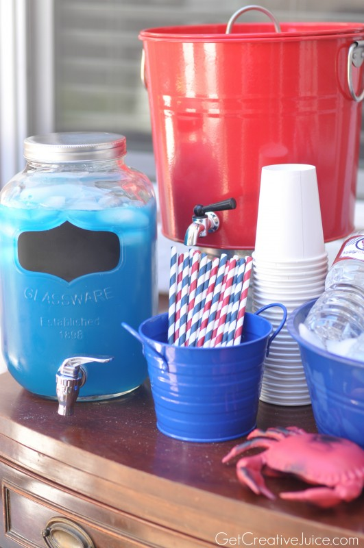 Nautical Party Drink Station
