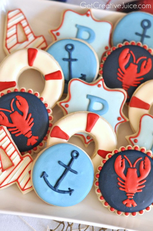 Nautical Sugar Cookies - Anchors, Lobsters and More