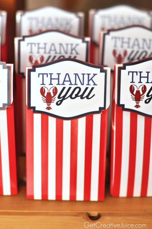 Nautical Thank You Party Favors