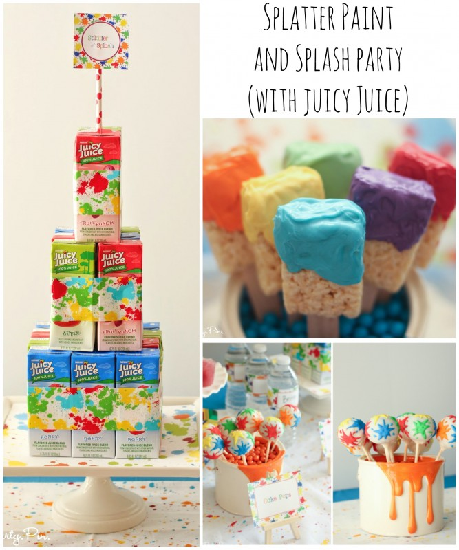 Splatter Paint and Splash Party (with Juicy Juice) collage