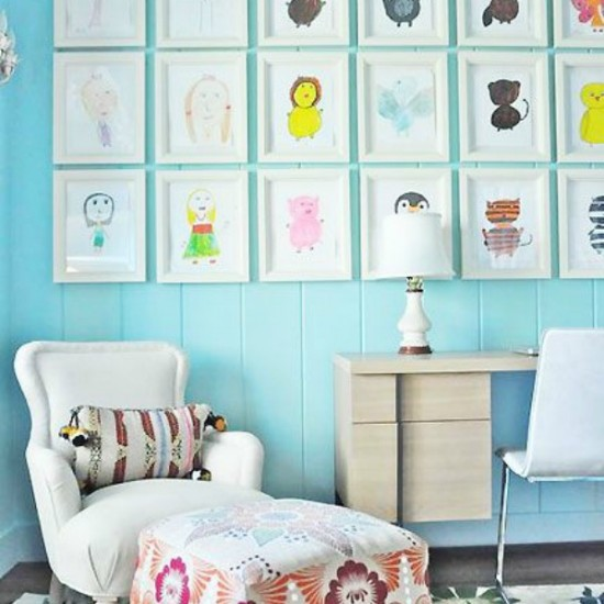 DIY Kids Art Gallery Walls