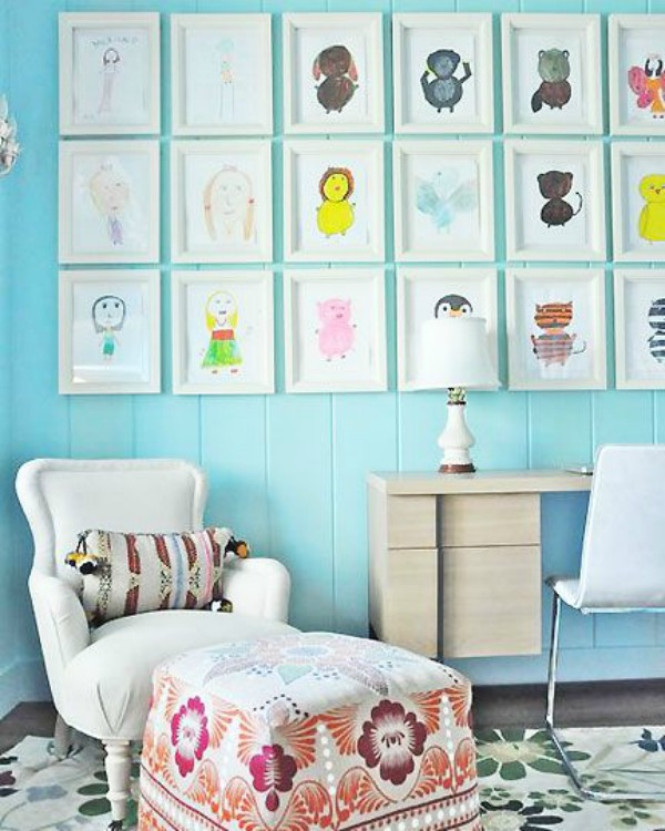 DIY Gallery Walls with Kids Artwork | @mindy_cone | getcreativejuice.com  sc 1 st  Creative Juice & DIY Kids Art Gallery Walls - Creative Juice