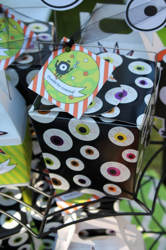 Monster Mash, Halloween, googly eyes, thank you, favor boxes