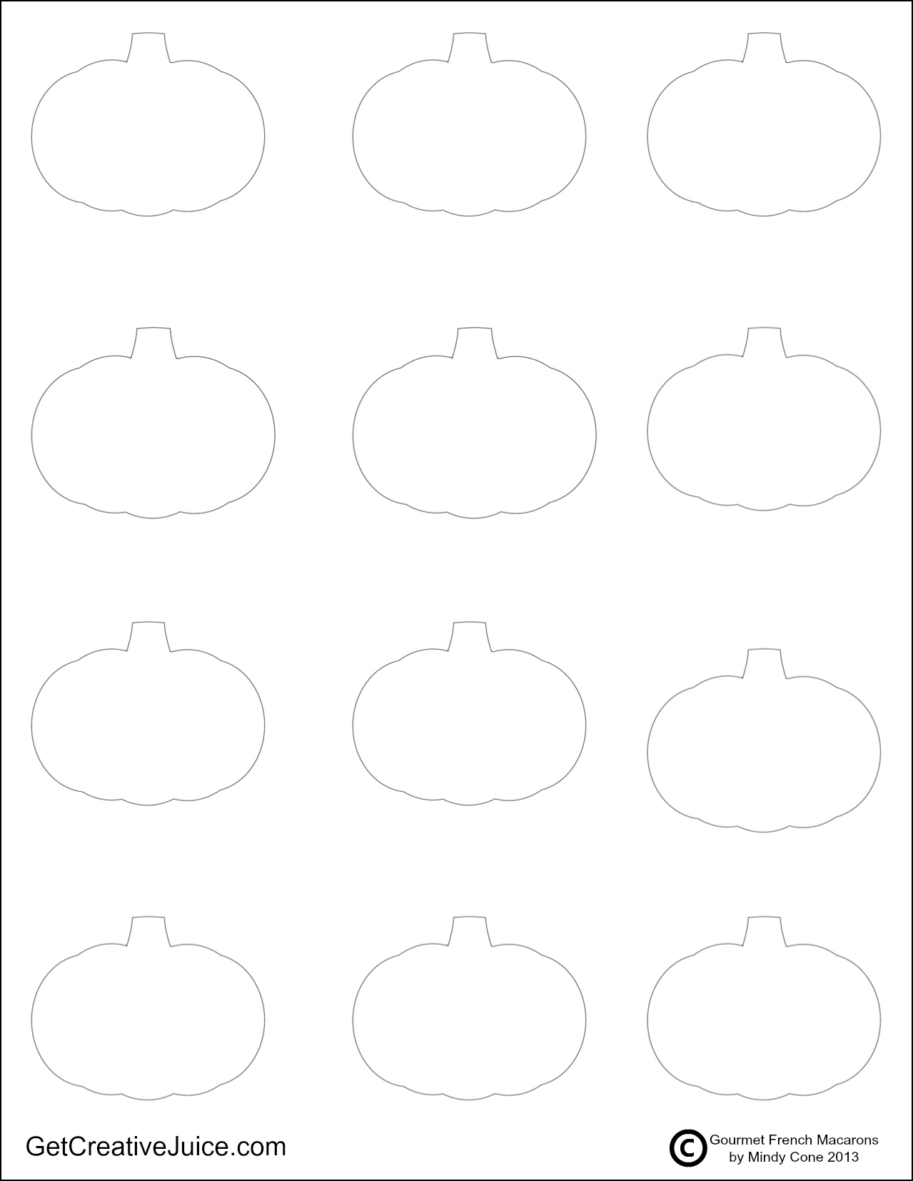photo regarding Printable Macaron Template named Pumpkin Macarons - Recipe, Guideline, and Printable Template