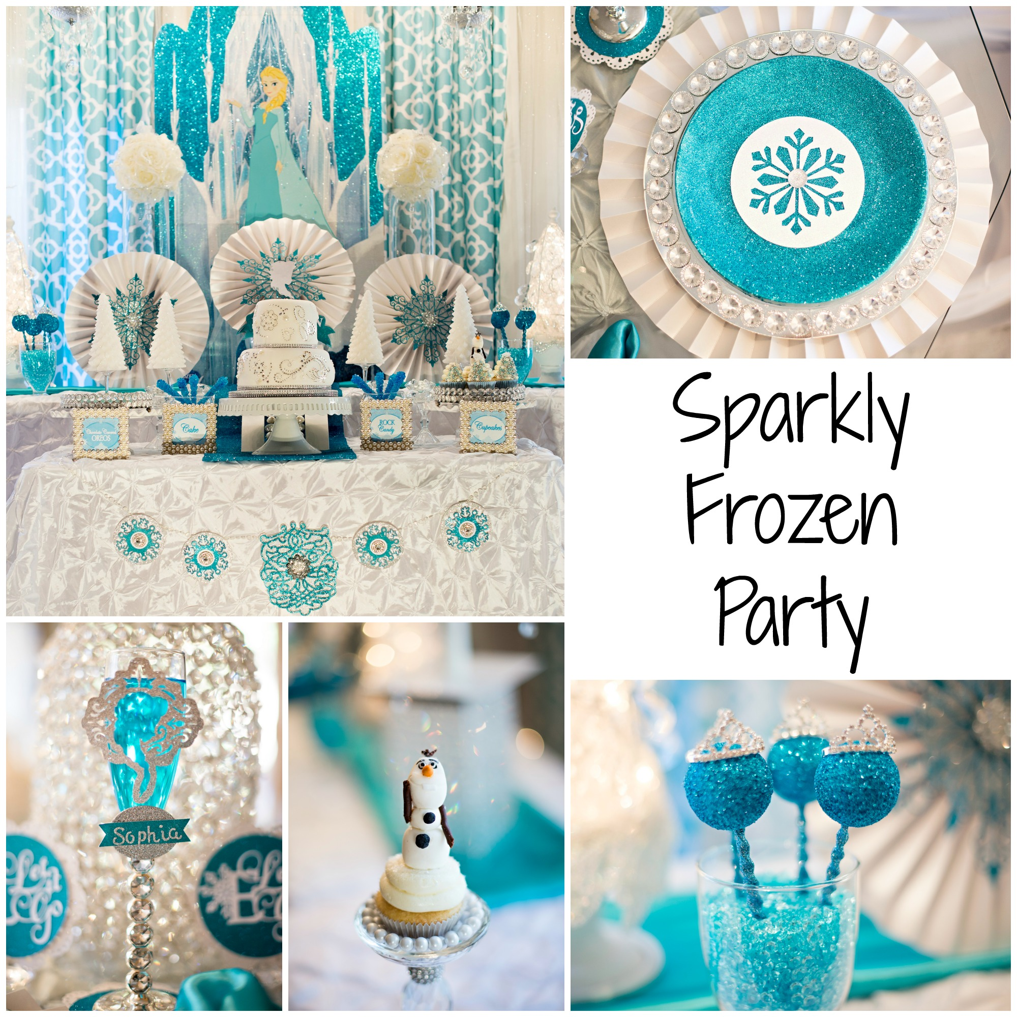 Sparkle Glitz Glam Frozen Party Ideas Creative Juice