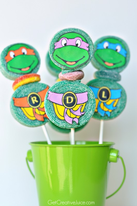 TMNT candy kabobs