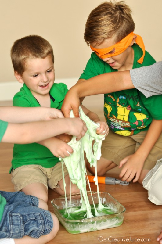 TMNT party activity - How to make slime!