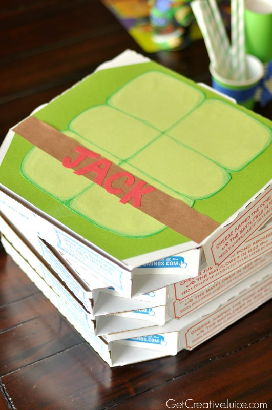 TMNT party favor boxes