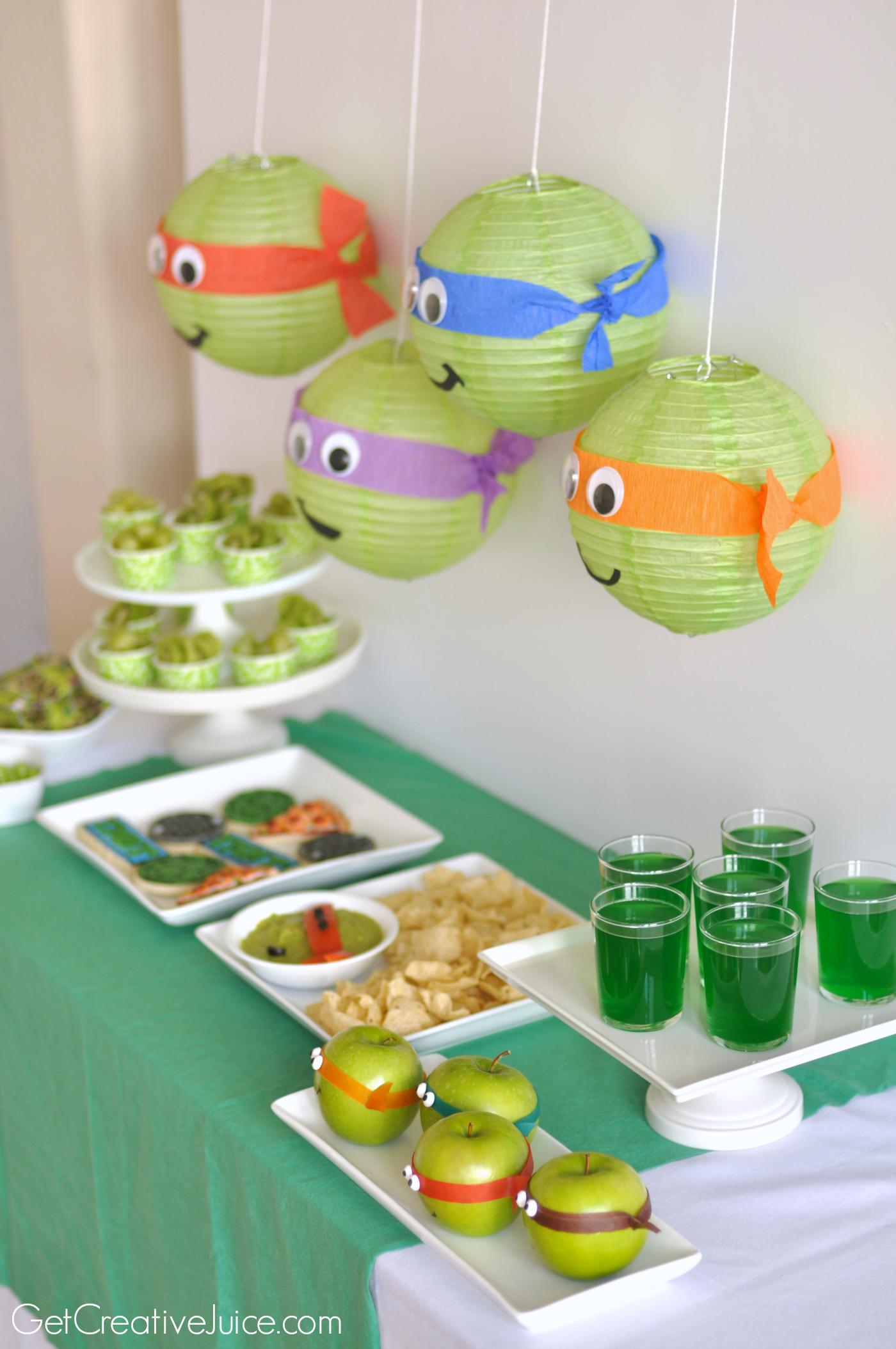 Tmnt party creative juice for Tmnt decorations