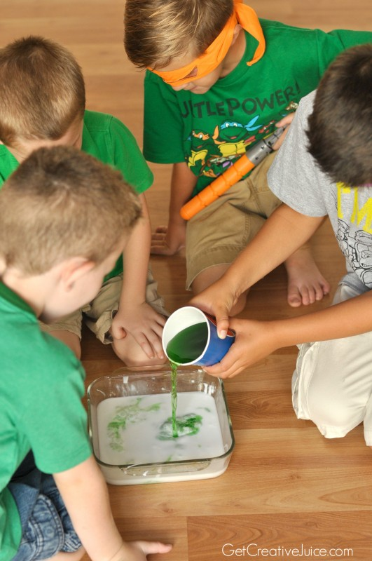 TMNT slime - party activity!