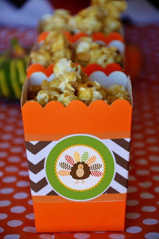 20 Crafty Kids Chevron Thanksgiving, Turkey Popcorn