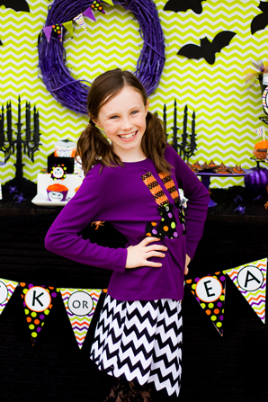 spooktacular halloween party,  chevron skirt, polkadot witches feet