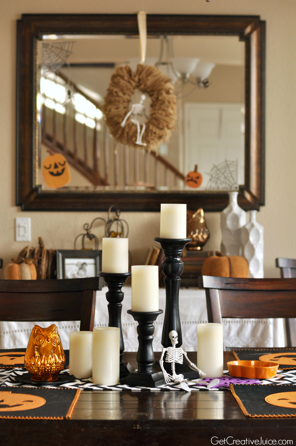 halloween tablescape home decoration ideas - Halloween Home Decor Ideas