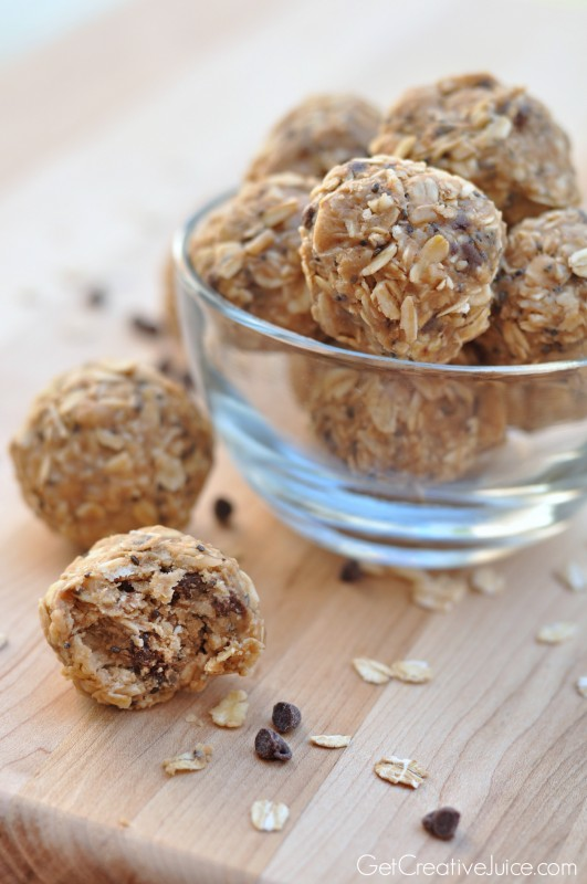 Peanut Butter Oatmeal Energy Bites  Power Balls