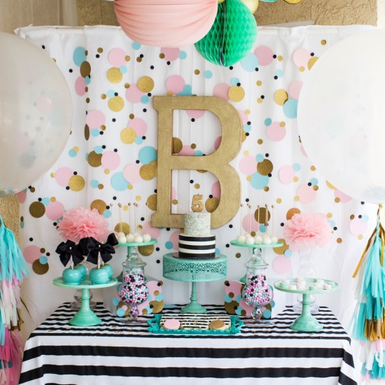Cue the Confetti!!! Modern & Bright Birthday Party