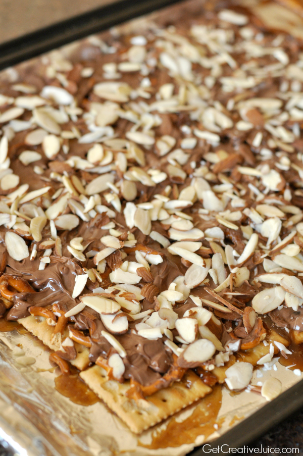 Toffee Bark recipe and tutorial