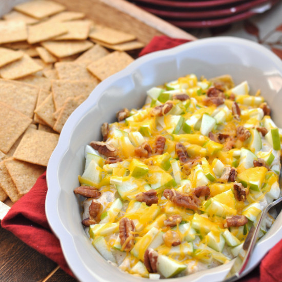 Warm Apple Cheddar Appetizer Dip for the Holidays