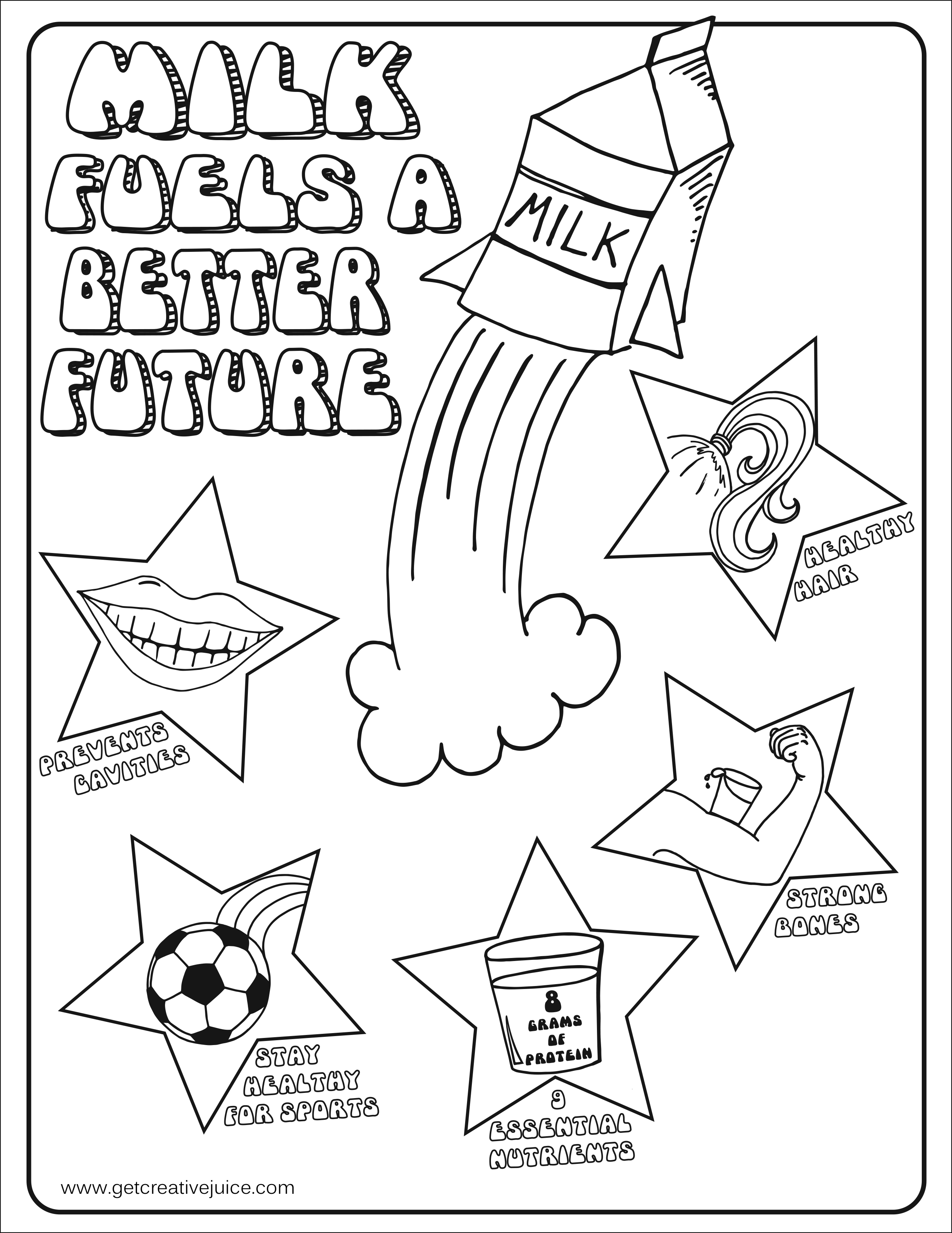 dairy coloring pages - photo#19