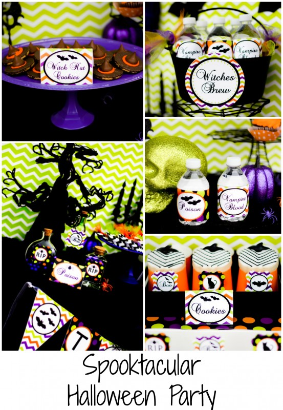 spooktacular Halloween party collage