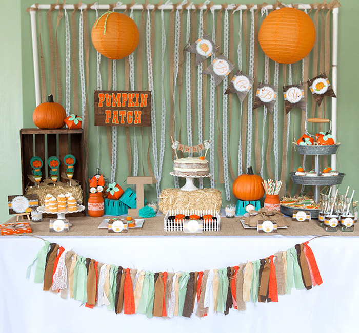 Delightful Rustic Little Pumpkin Baby Shower